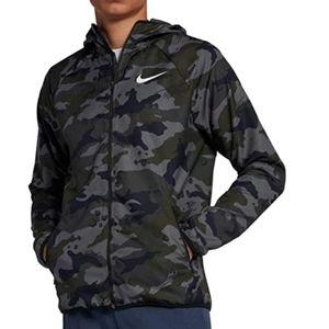 Nike army camo lightweight jacket